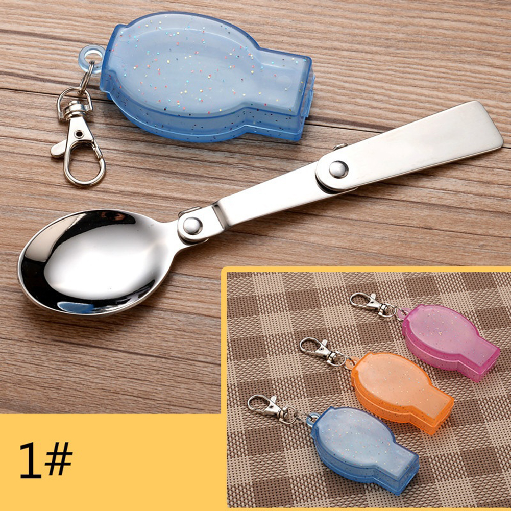 Foldable Portable Mini Spoon Fork Blade Set Camping Picnic Tableware ONE
